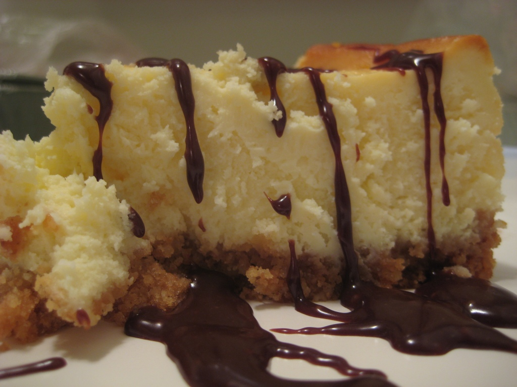 Mascarpone Cheesecake with Nutella Drizzle